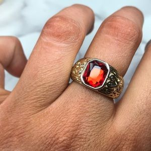 Jewelmint ruby vintage gold ring